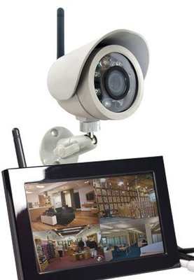 wireless security video camera zone sheild outdoor camera w quad lcd receiver kb c1220. Black Bedroom Furniture Sets. Home Design Ideas